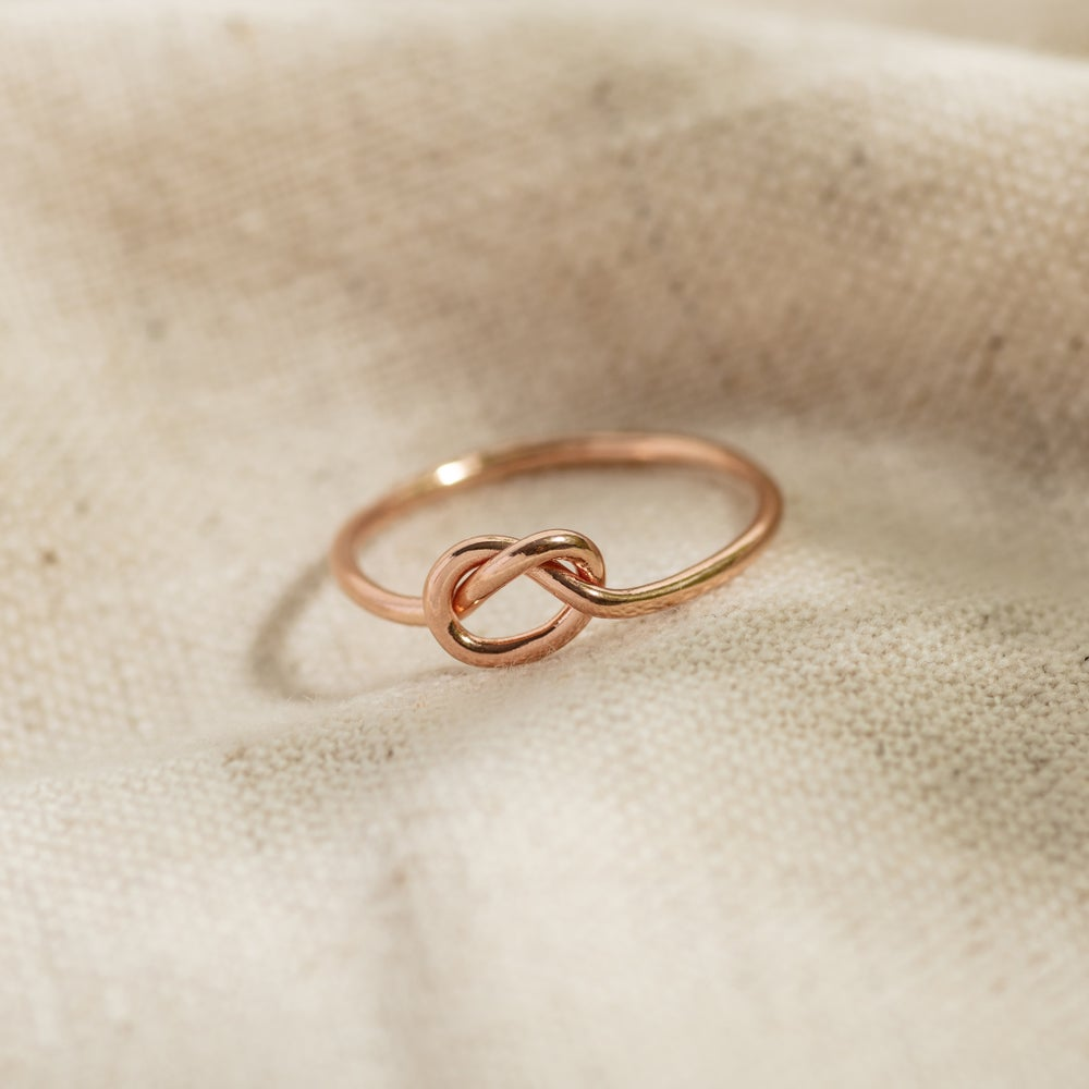 Image of 9ct Rose Gold Knot Stacking Ring