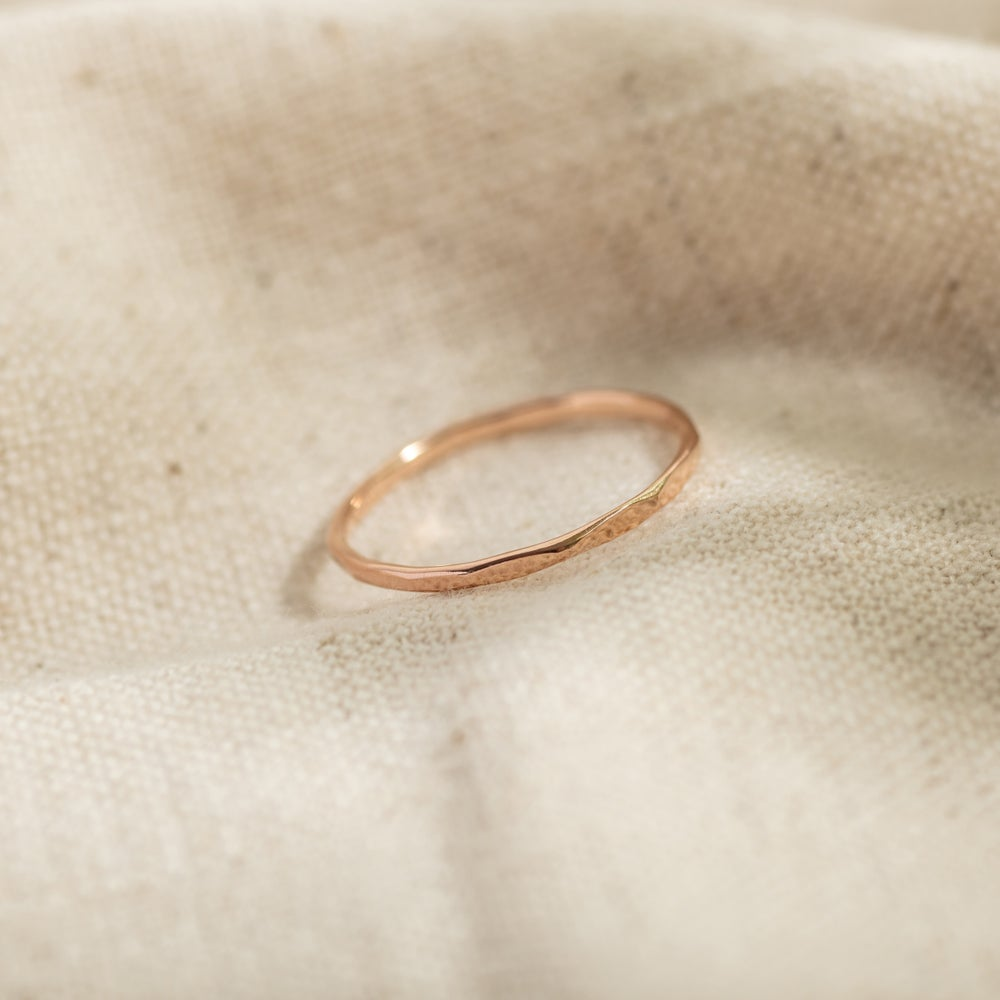 Image of 9ct Rose Gold Faceted Stacking Ring