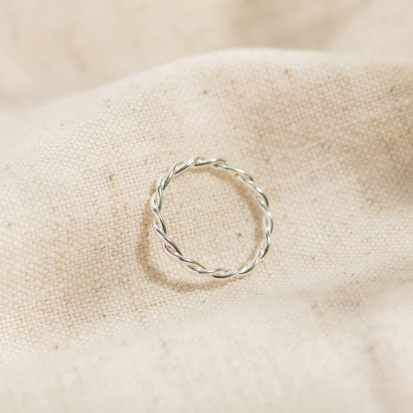 Image of Twisted Vine Silver Stacking Ring