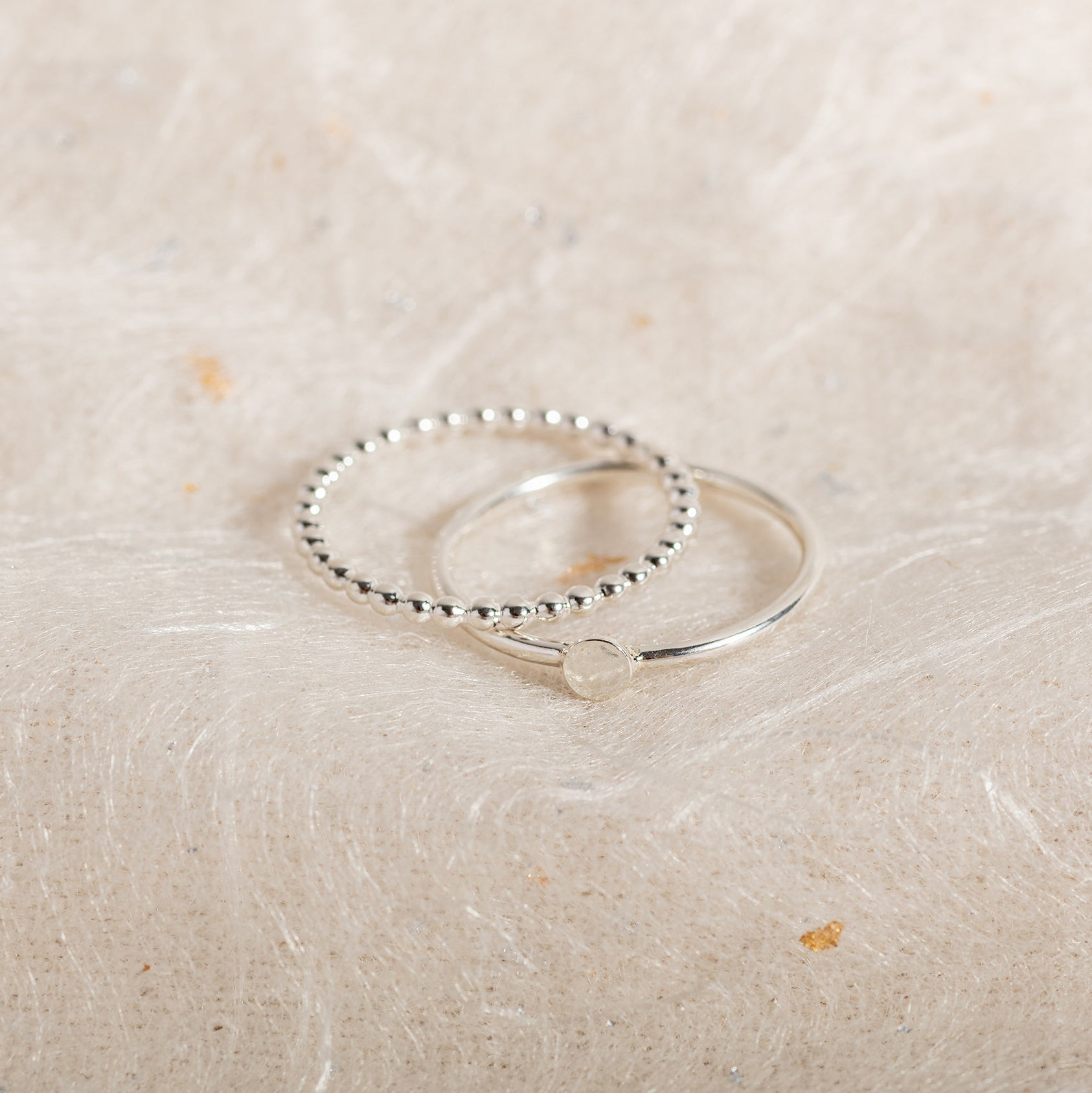 Set of Two Beaded Rings