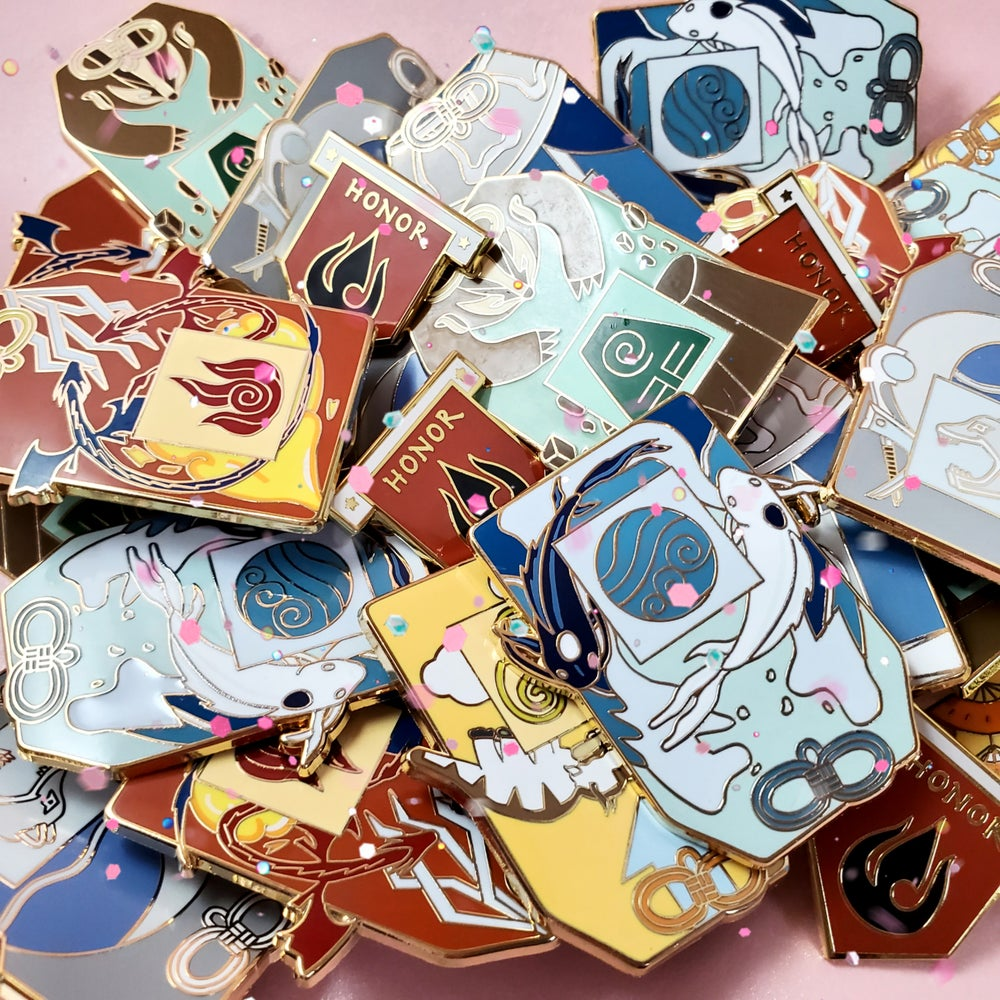 Image of ATLA Omamori Pin Set