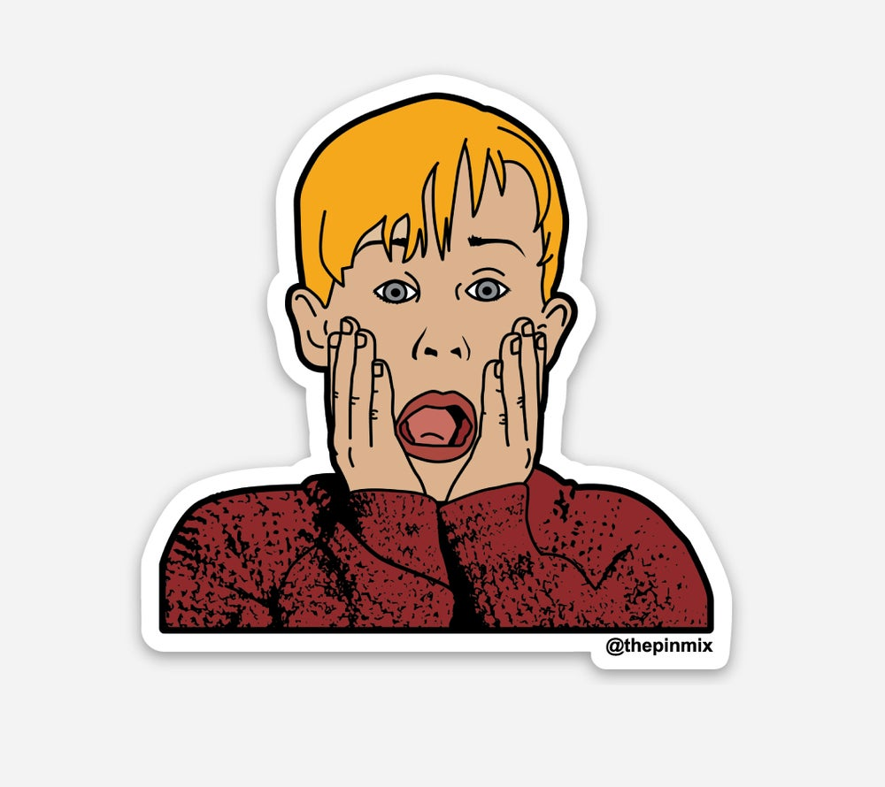Image of 'Kevin Home Alone' Sticker