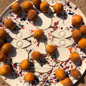 Image of Confetti Sun face platter