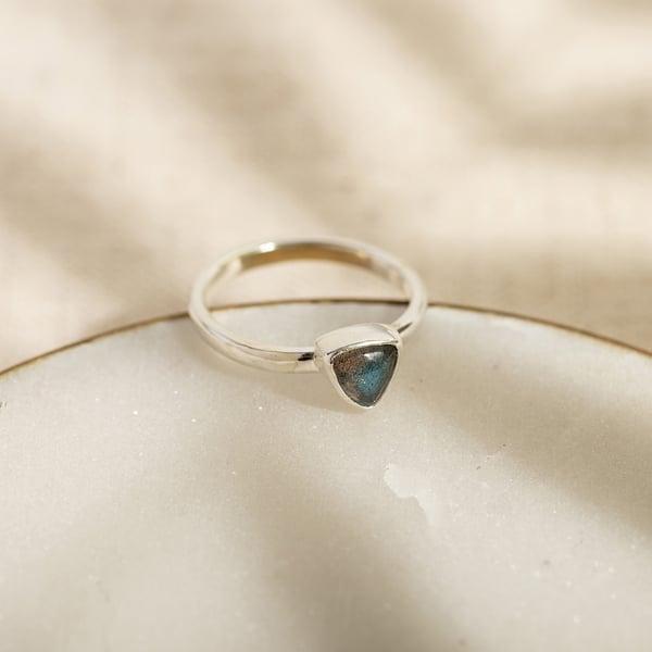 Image of Trillion Labradorite Ring