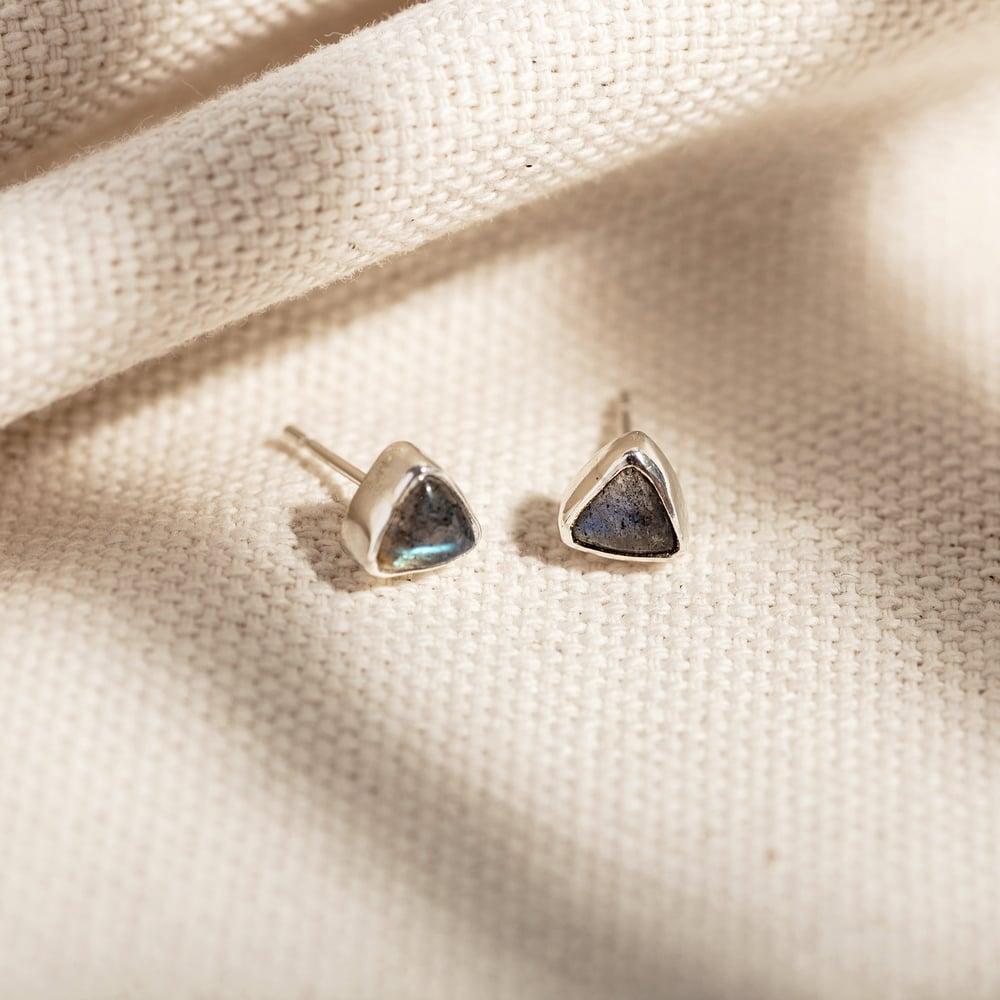 Image of  Trillion Labradorite Earrings