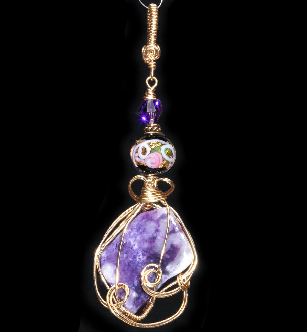 Violet Flame Opal 14k Gold Filled Handmade Pendant
