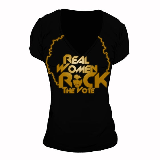 Image of Real Women Rock The Vote | Deep V-Neck Tee
