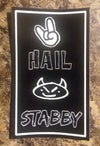 Hail Stabby Rectangle Sticker