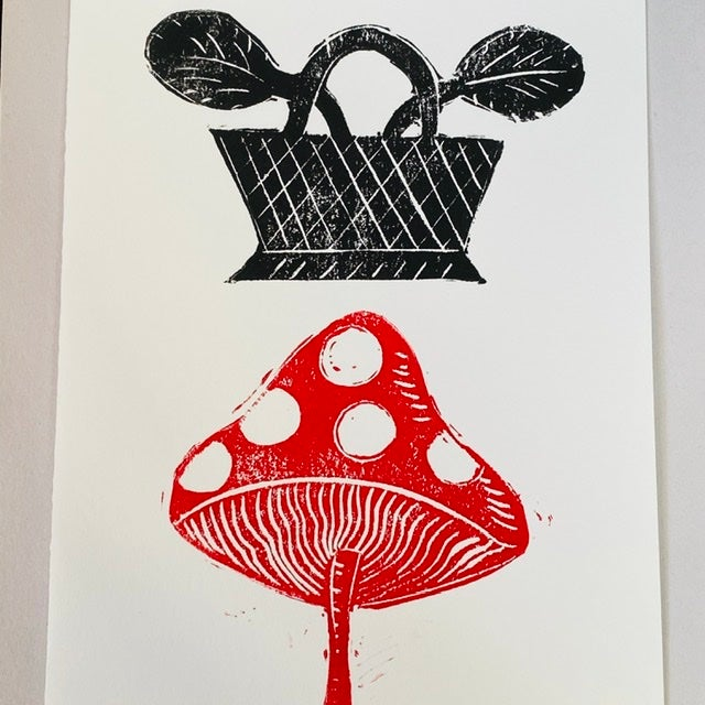 Image of Dotty Mushroom Basket