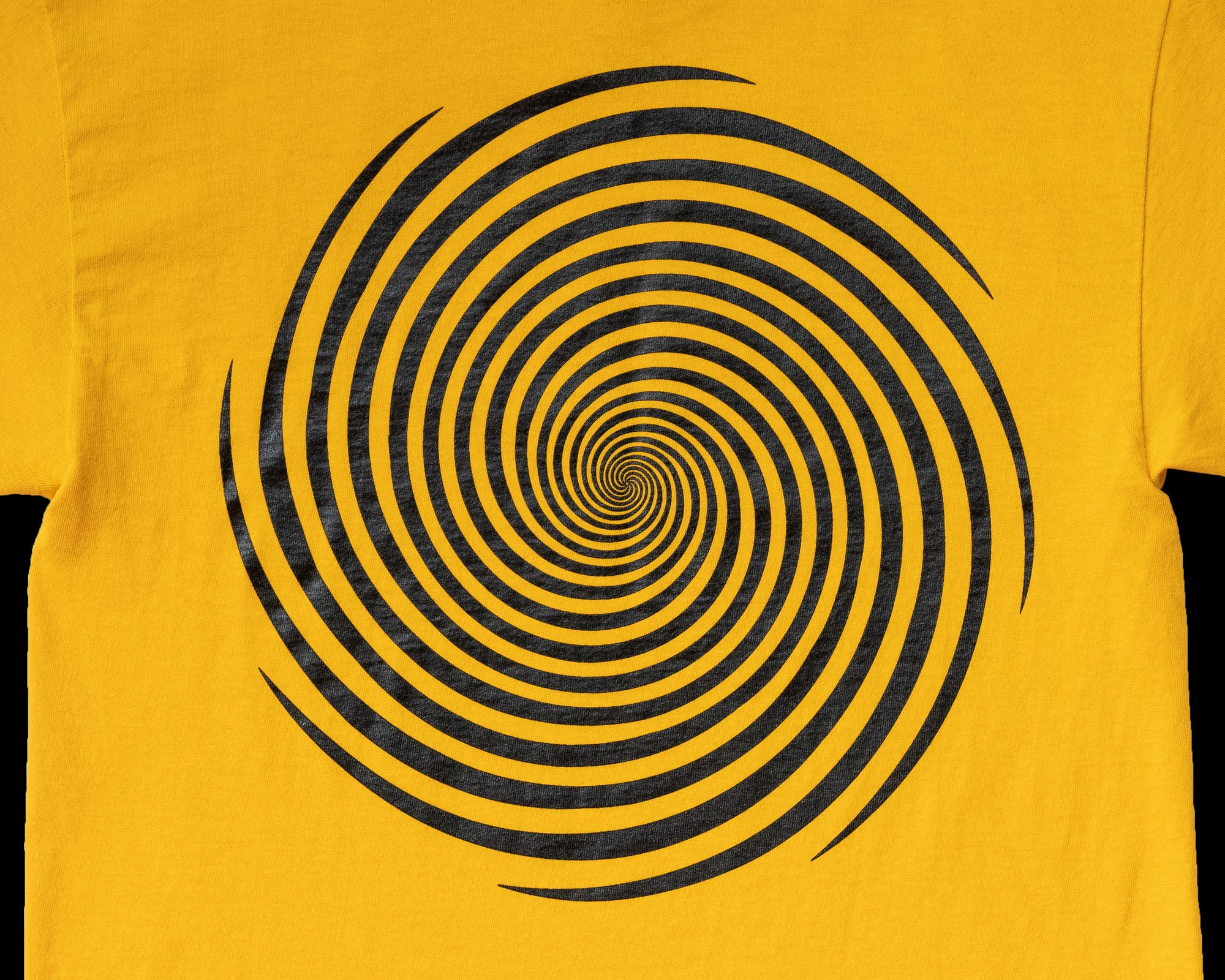 Image of S/S Vortex Tee - Sunflower / Black