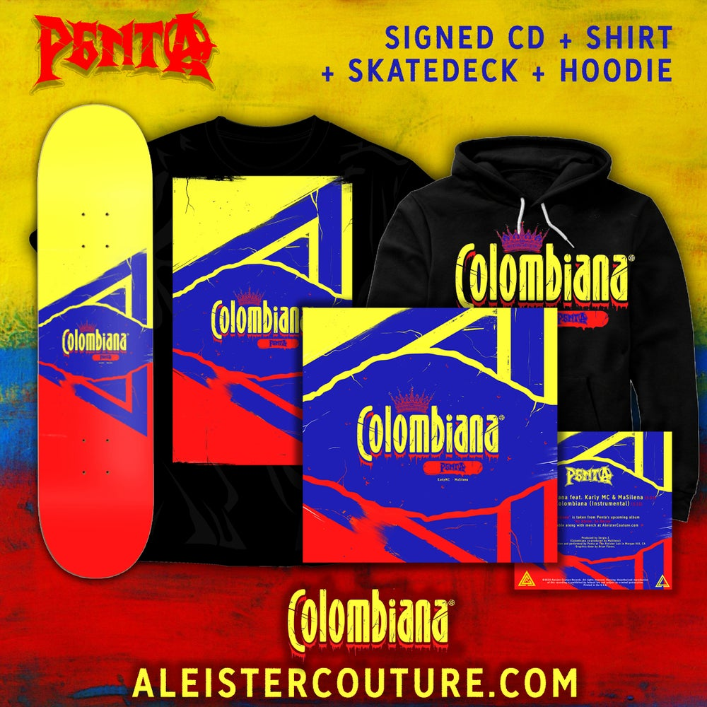 Image of Colombiana - Signed CD + Shirt + Skate Deck + Hoodie