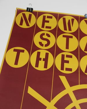 Original Serigraph Poster Robert Indiana New York State Theater, Lincoln Center ca. 1964