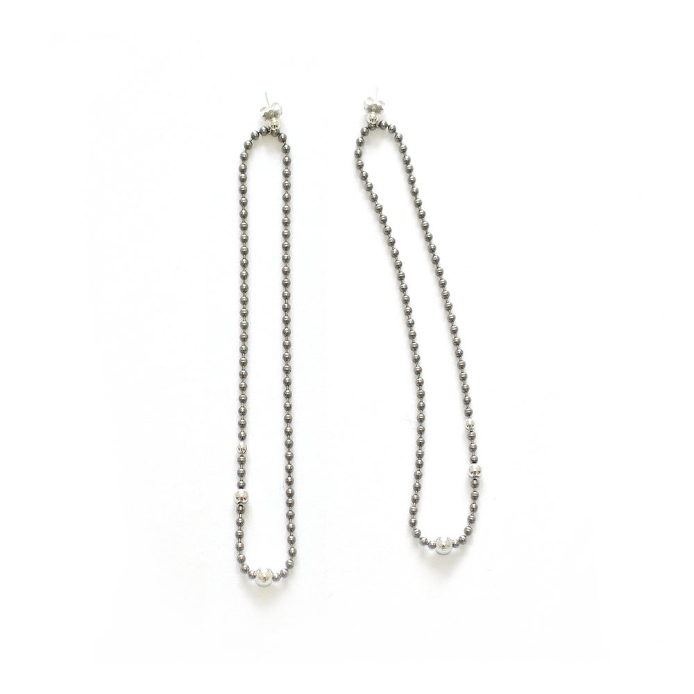Image of STEEL+SILVER long earrings