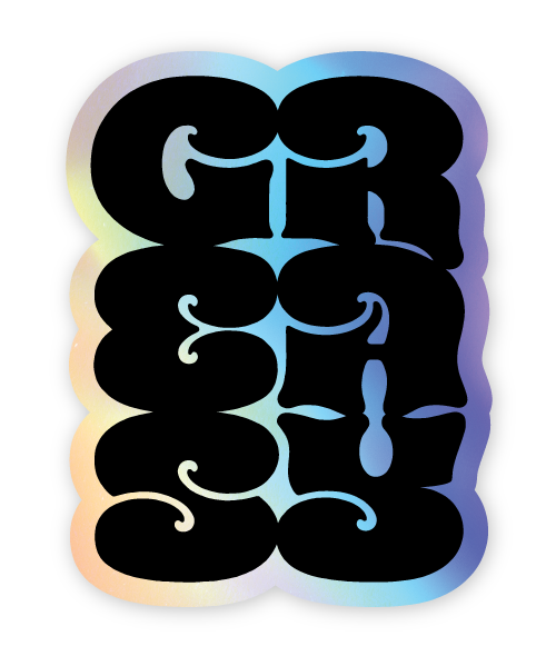 Image of Greasy - Holographic Sticker
