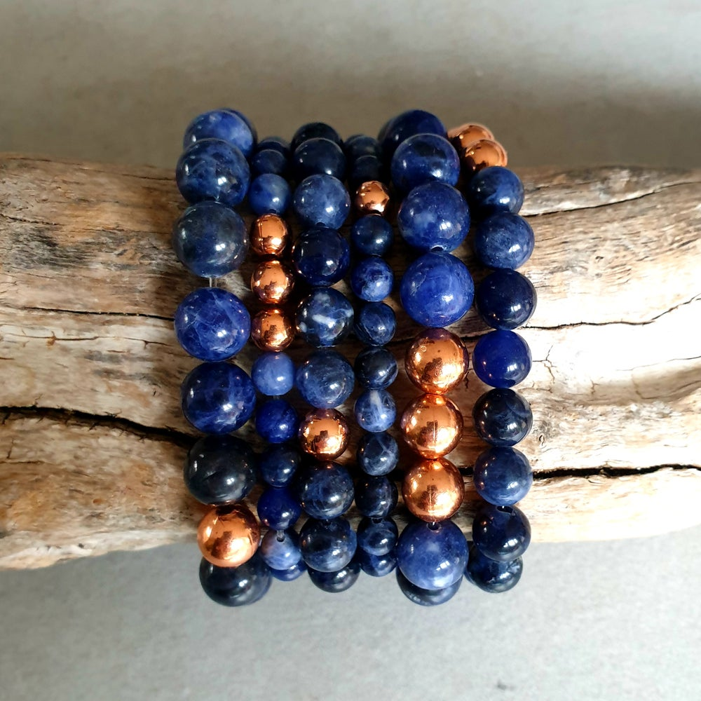 Image of SODALITE & COPPER BRACELET - 6mm, 8mm & 10mm bead sizes