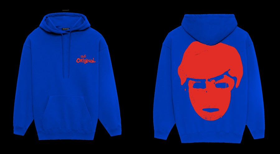Image of THE ORIGINAL DEFACED HOODIE [ROYAL BLUE]