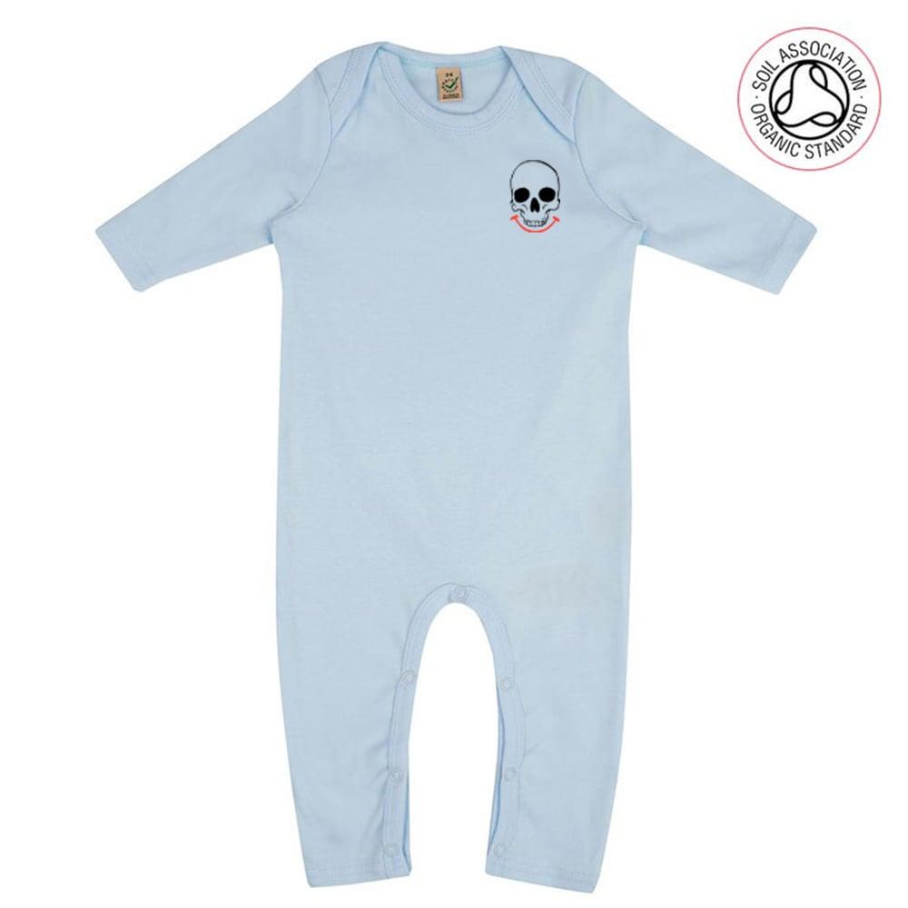 Logo Infants Blue Jumpsuit