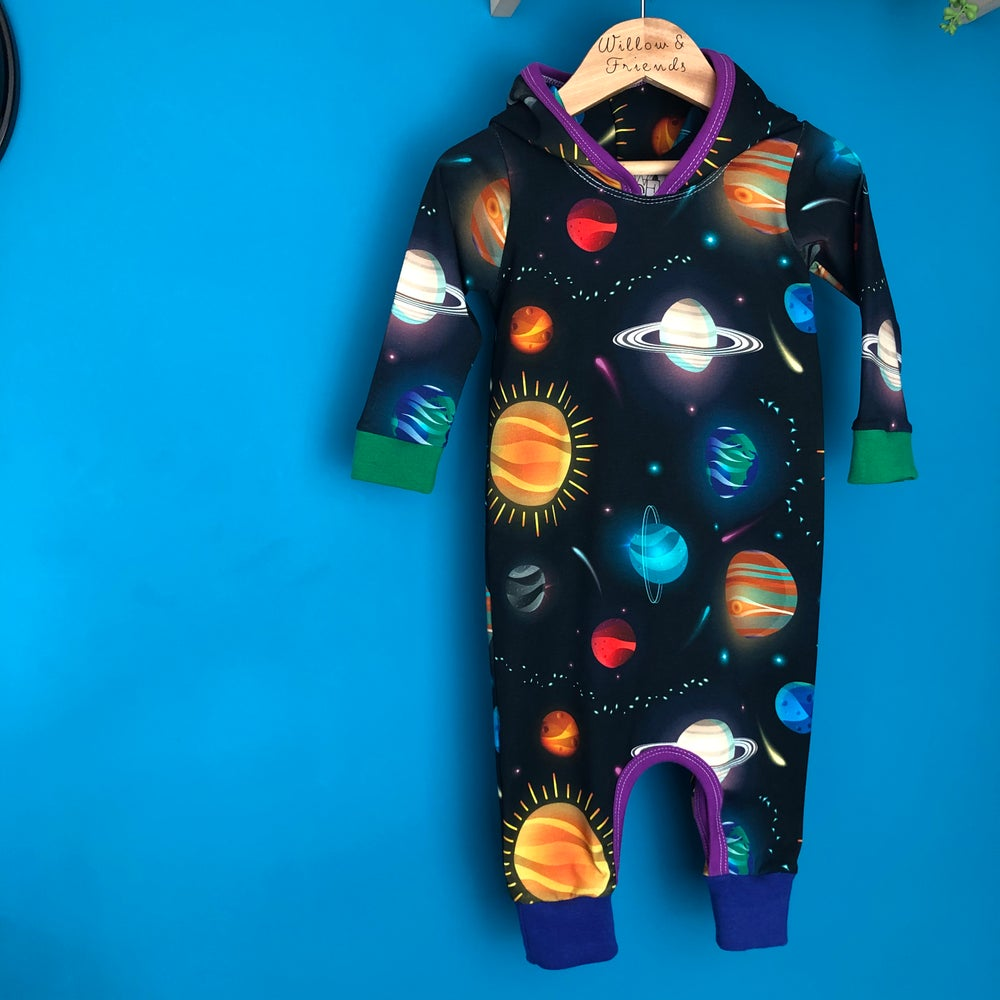 Image of In Stock Ready To Ship: 9-12m Alpha Quadrant Pixie Romper