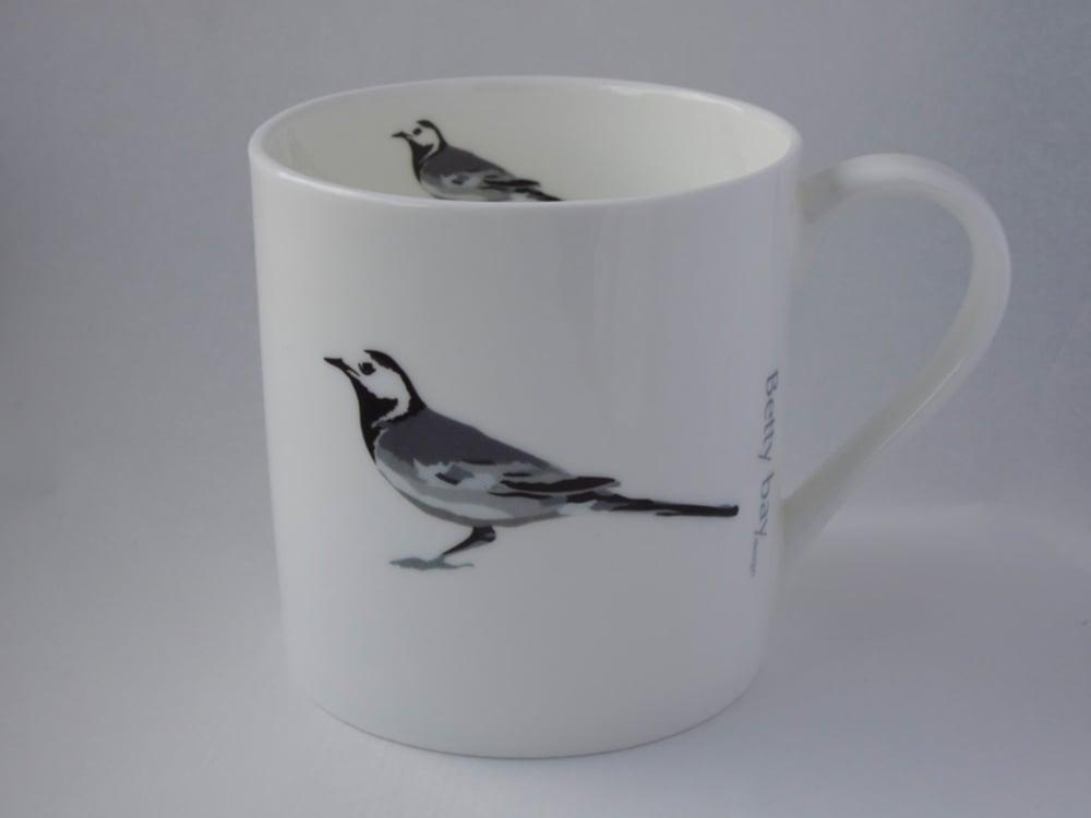 Image of Pied Wagtail English fine bone china Mug