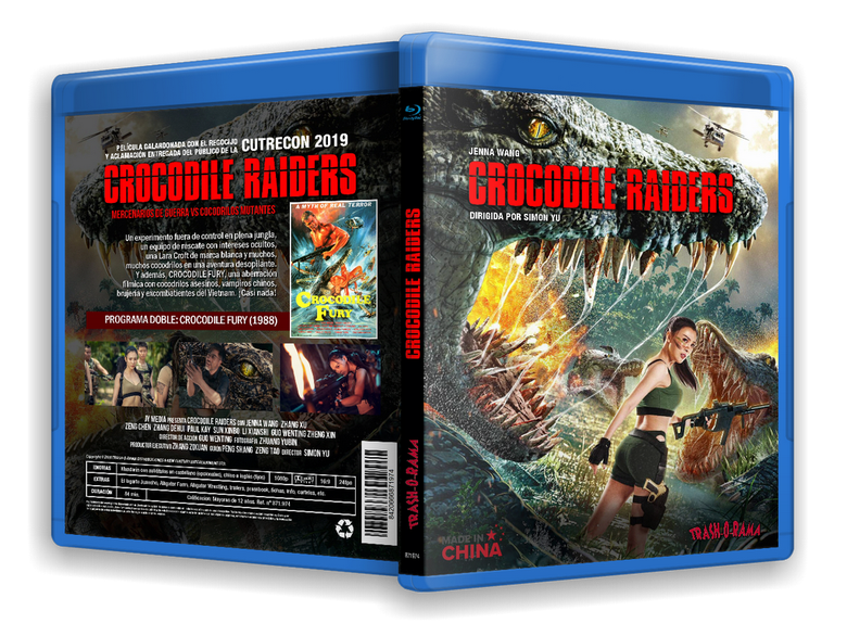 Image of BLURAY CROCODILE RAIDERS (2020) +  CROCODILE FURY (1988)