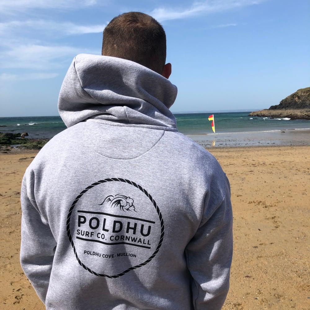 Poldhu Surf Co. ZIPPED Hoodie - LIGHT GREY