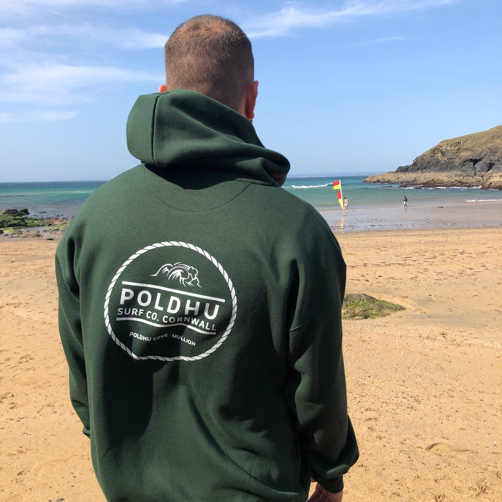 Poldhu Surf Co. ZIPPED Hoodie - FOREST