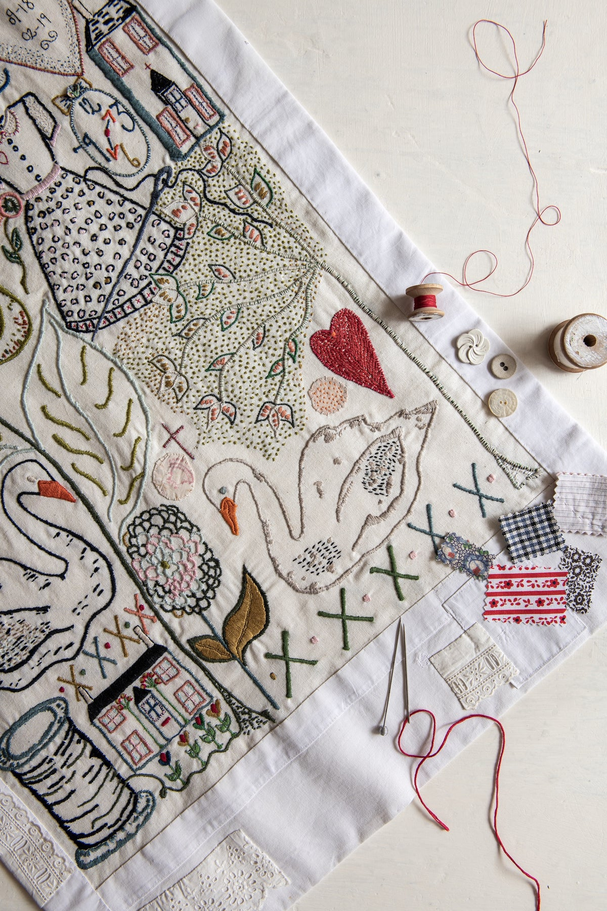 Image of 'The Garden' large embroidery template