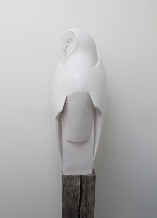 Image of PAUL HARVEY - 'BARN OWL LANDED' - SCULPTURE