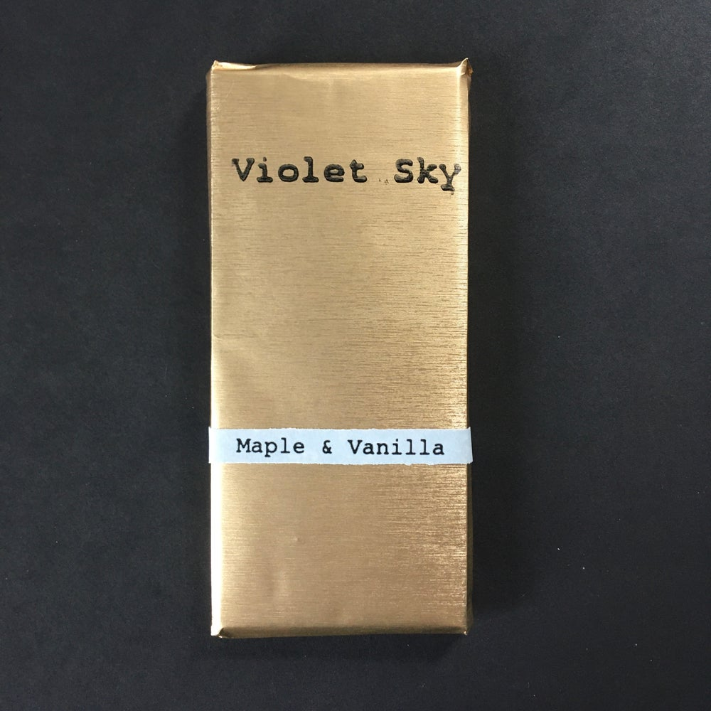 Image of Violet Sky Maple Vanilla 77% Dark Chocolate