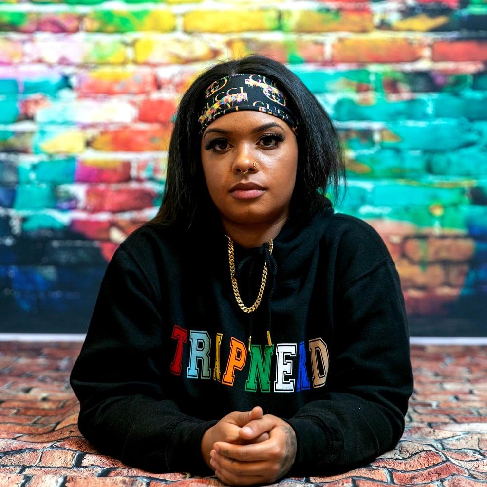 Image of TrapNerd Varsity Hoodie (BLACK)