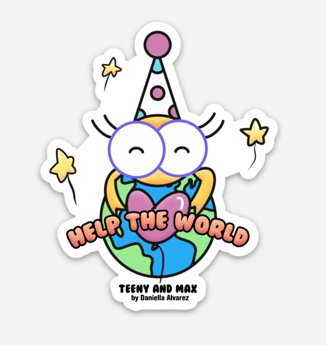 Image of Help The World Sticker