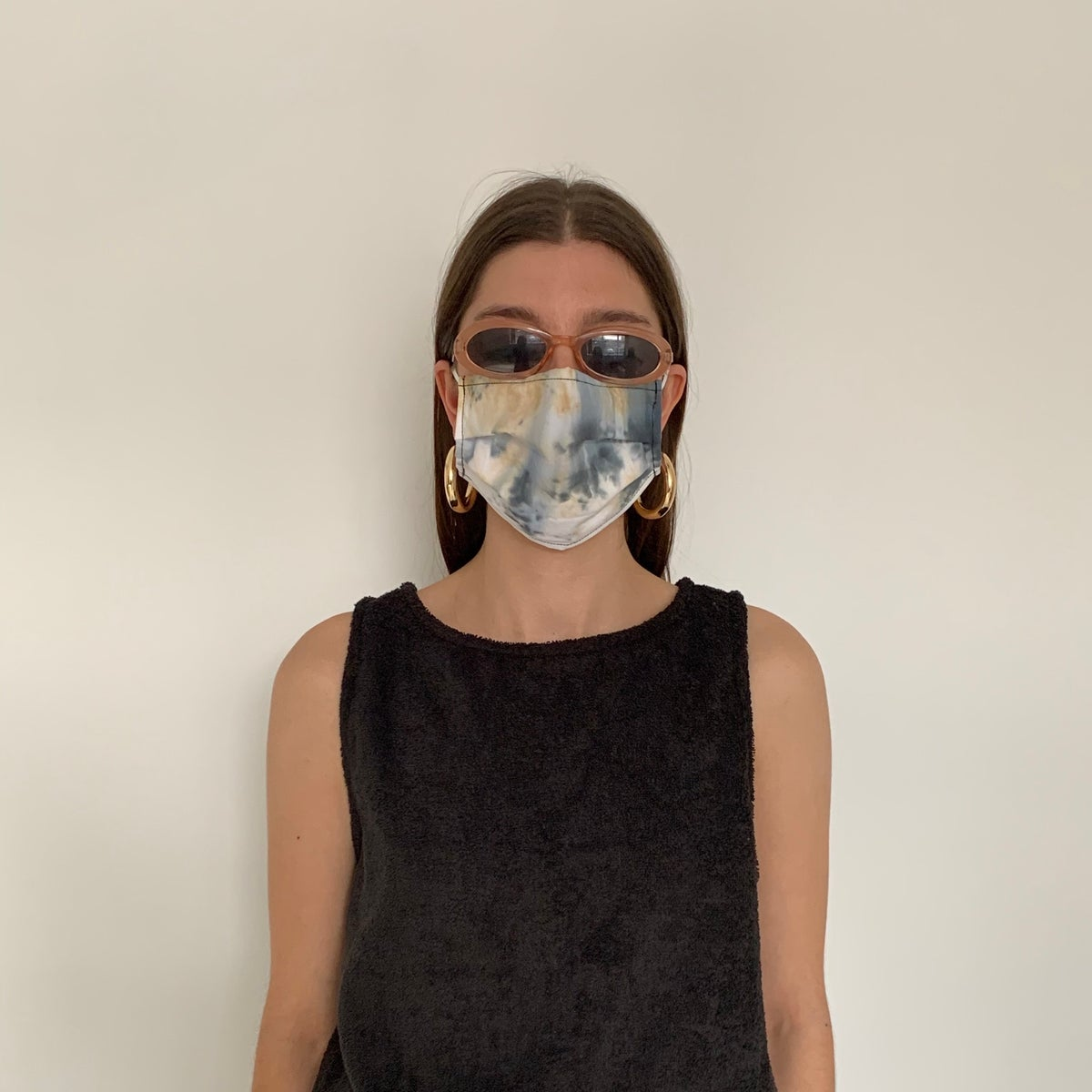 Image of HAND DYED COTTON FACE MASK