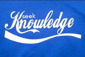 Image of Seek Knowledge Scripted Hoodie ( Royal )