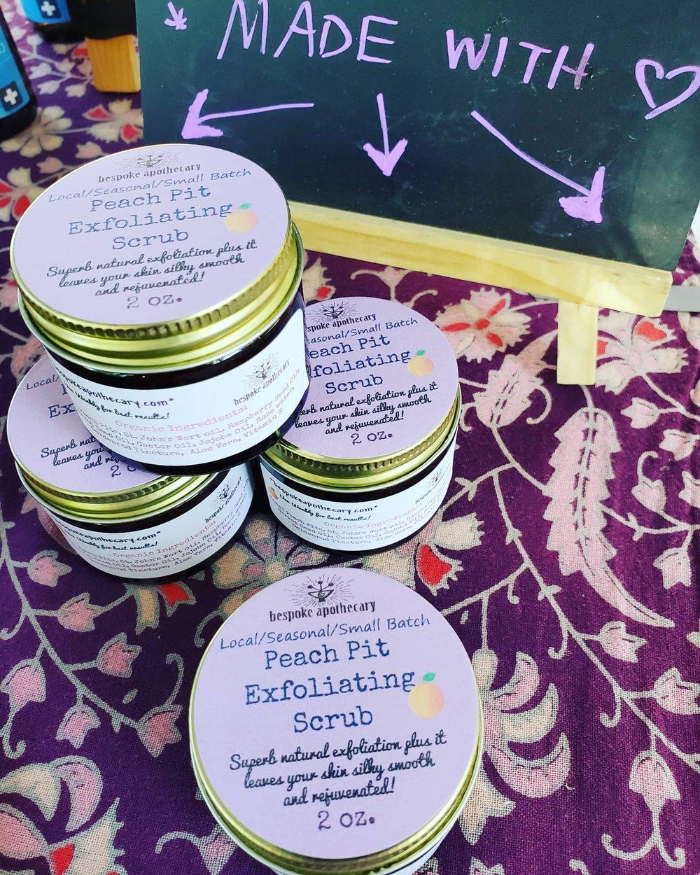 2 oz. Local peach pit anti-aging AND anti-acne face scrub