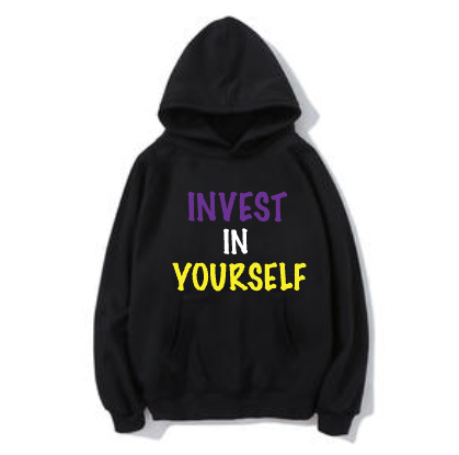 """Black """"Invest In Yourself"""" Hoodie"""