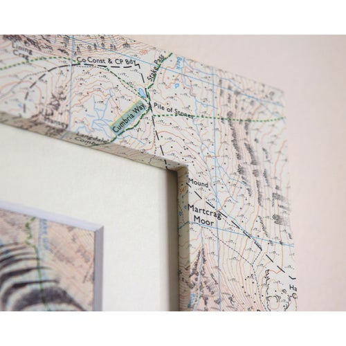 Image of Lake District National Park Super Limited Print (with map-wrapped frame)