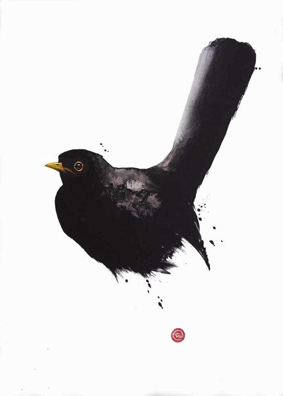Image of KARL MARTENS - 'BLACKBIRD' - LITHOGRAPH - SIGNED