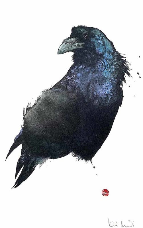 Image of KARL MARTENS - 'RAVEN' - LITHOGRAPH - SIGNED