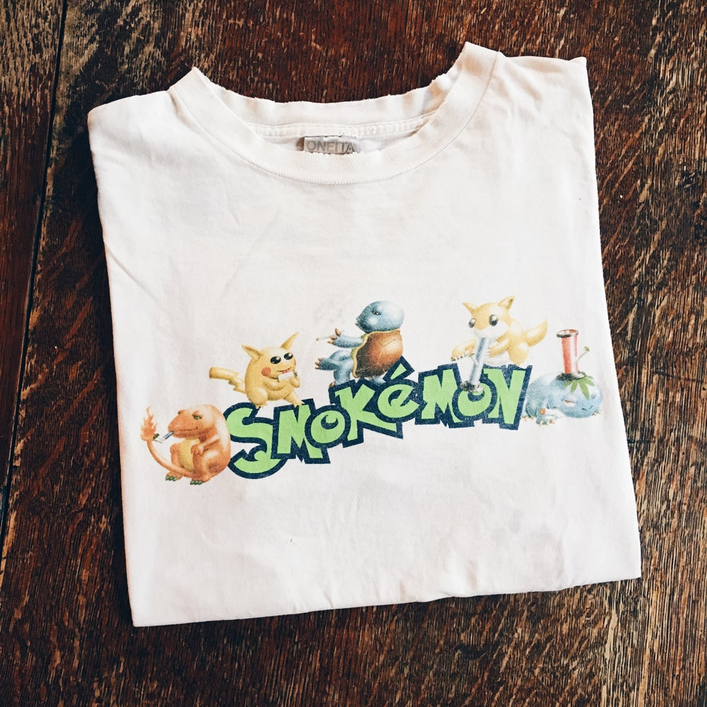 Image of Original 90's Smokemon Weed Parody Tee.