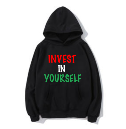 "Black/Red ""Invest In Yourself"" Hoodie"