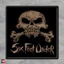"Six Feet Under ""Skull"" Printed Patch"