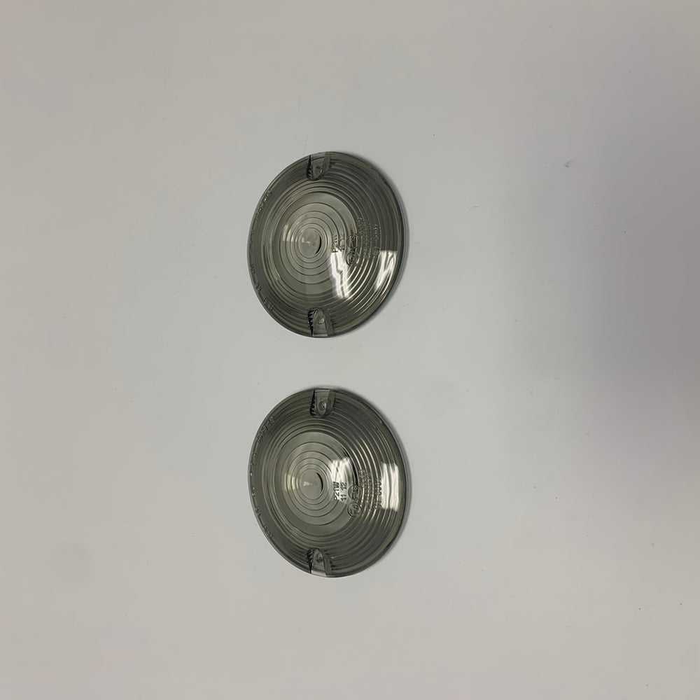 Image of Smoke Turn Signal Lenses (fits HD flat syle bullet housings)