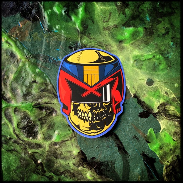 Image of Dredd Head sticker