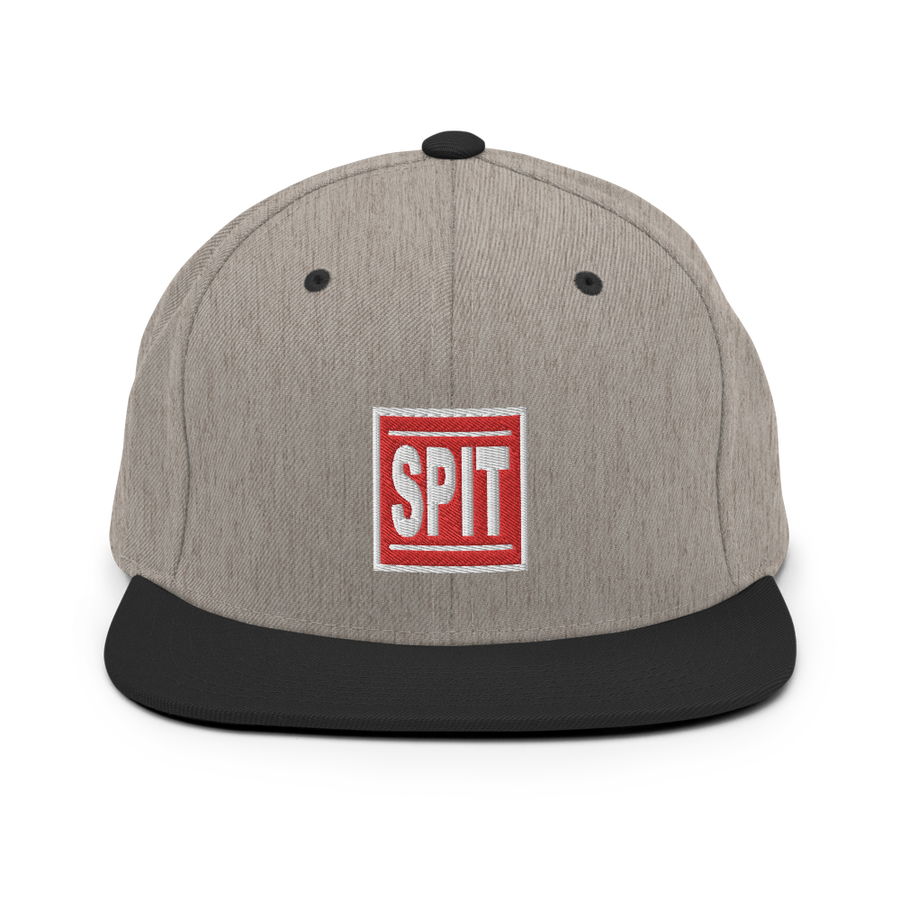 Image of Spit Box Logo Snapback (Heather,Black)