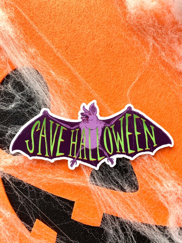 Image of SAVE HALLOWEEN Sticker