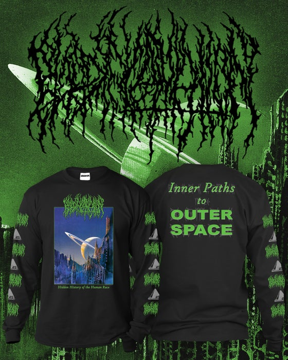 Image of (Preorder) Inner Paths to Outer Space BLACK Long Sleeve Shirt