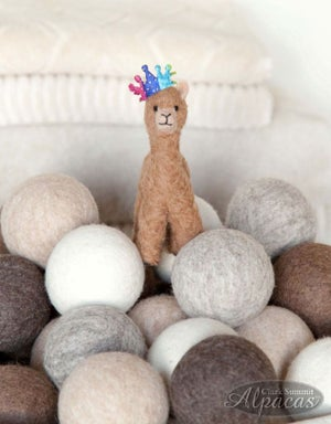 Dryer Balls All Natural Alpaca Wool Eco Friendly Felted Laundry Product