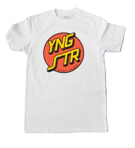 Image of YNGSTR West Coast Cruz Tee (white)