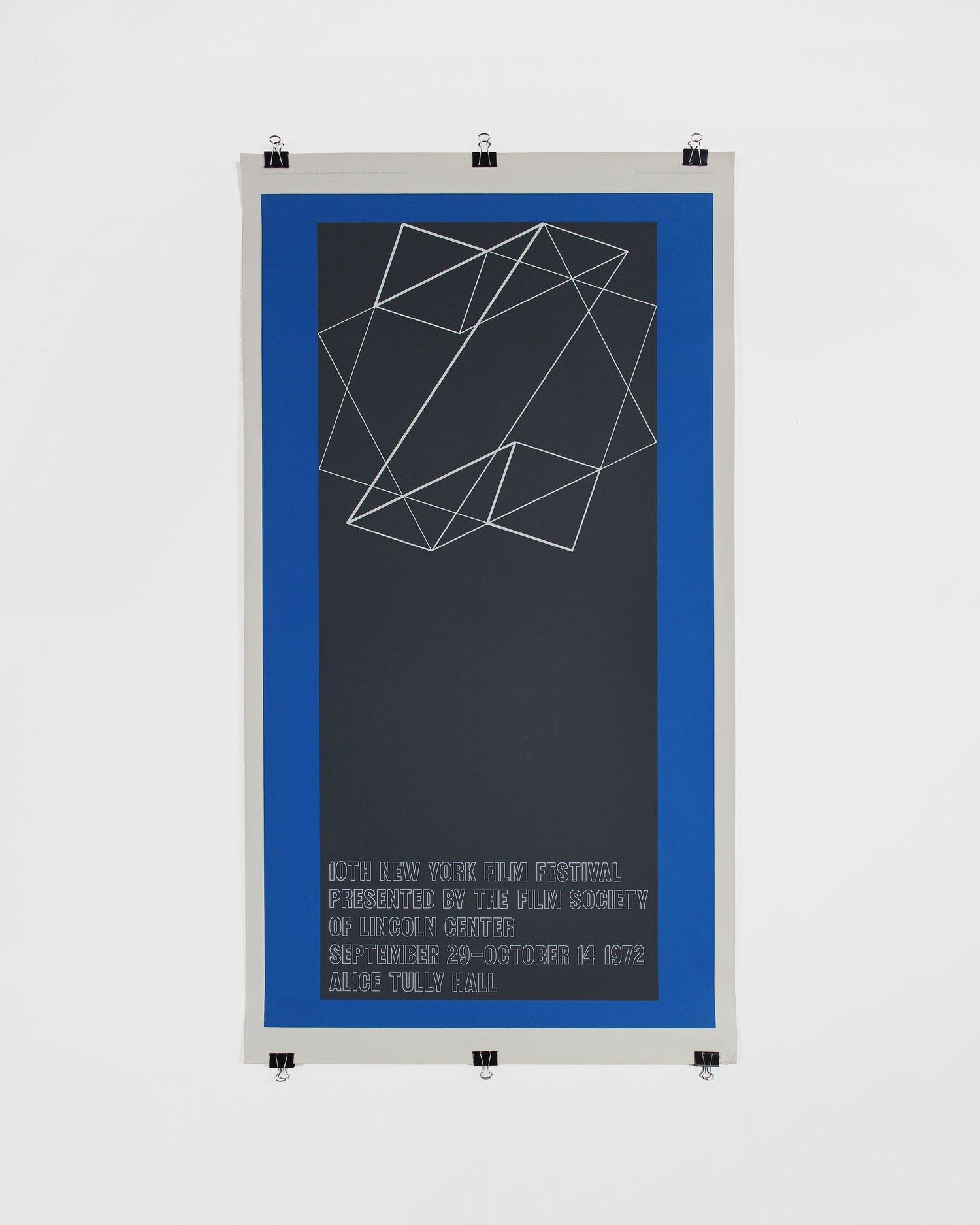 Original silkscreen poster by Josef Albers - 10th New York Film Festival, Lincoln Center ca. 1972
