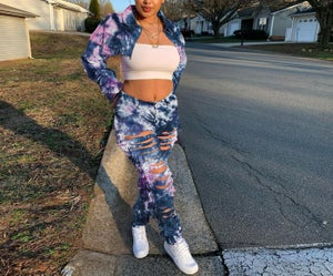 Image of Tye Dye Denim Set